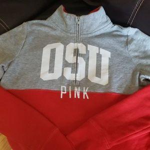 VS pink Half zip sweatshirt XS-S